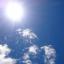真夏の日差し熱中症の恐れ